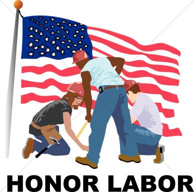 Honoring The American Worker Labor Day Clipart.