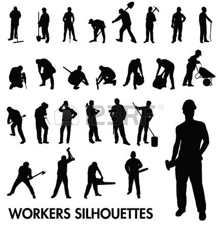 9,077 Construction Worker Silhouette Stock Illustrations, Cliparts.