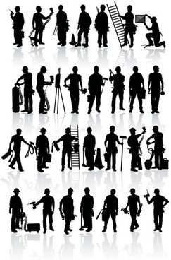 Free workers vector silhouettes free vector download (5,803 Free.