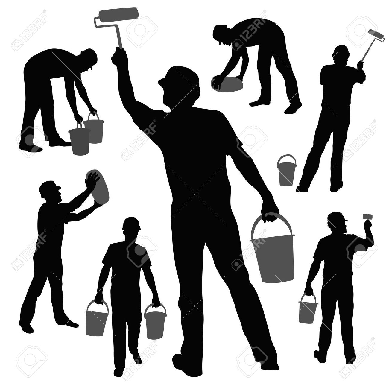 Workers Silhouettes Collection Royalty Free Cliparts, Vectors, And.