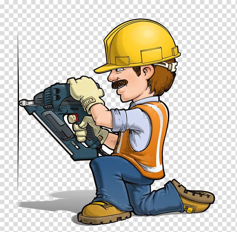 Construction male , Cartoon Handyman illustration.