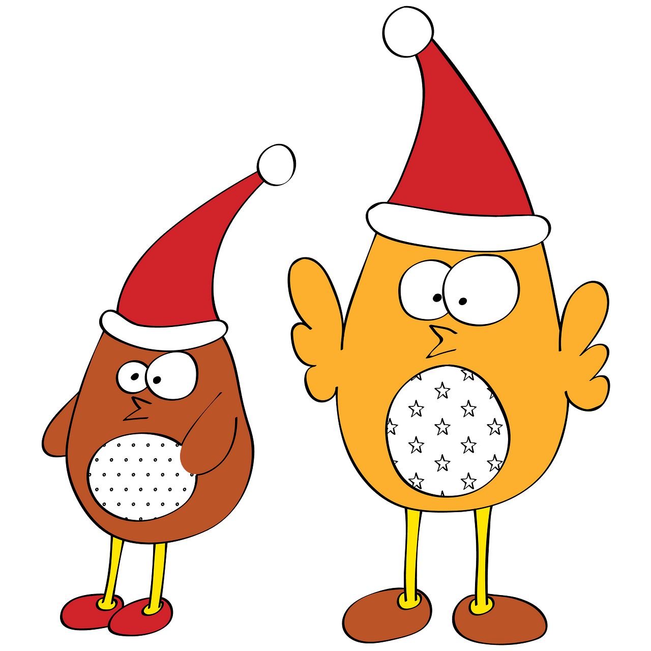 Singing Christmas Birds clipart. Free download..