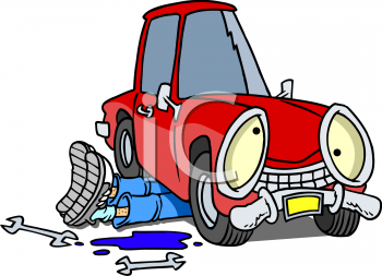 Working On Car Clipart.