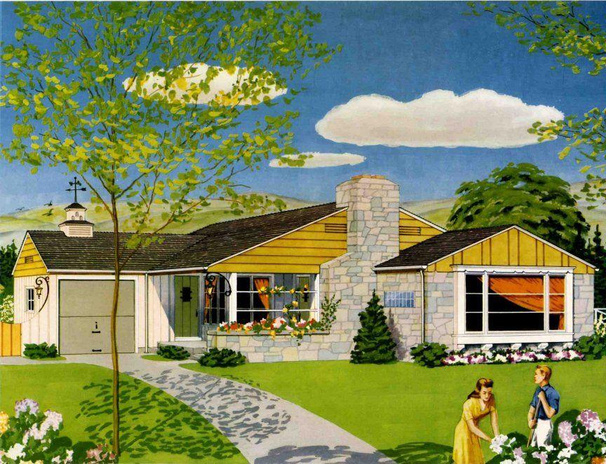 A 1950 American Dream House.