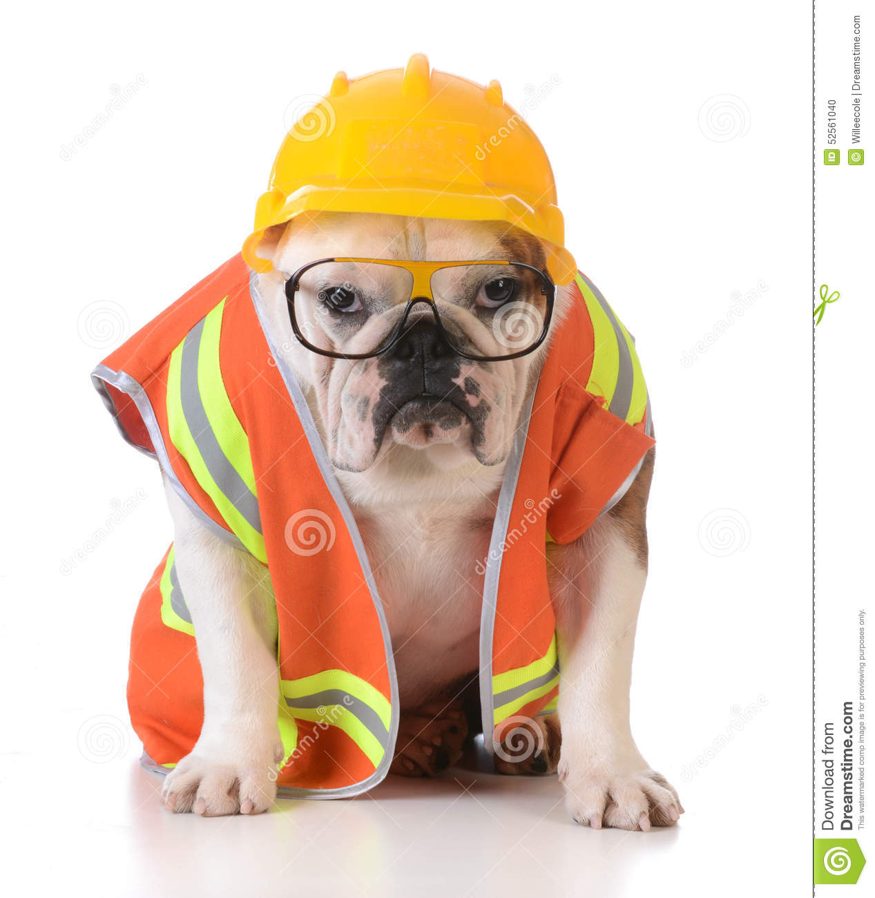 Dog Construction Worker Clipart.