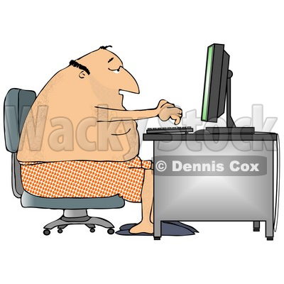 working from home clipart #6