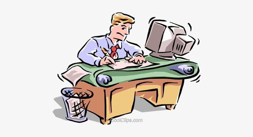 Office Royalty Free Vector Clip Art Illustration.