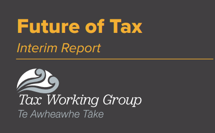 The Tax Working Group's interim report shows taxation of income from.
