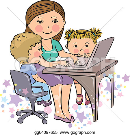 Working Mother Clipart.