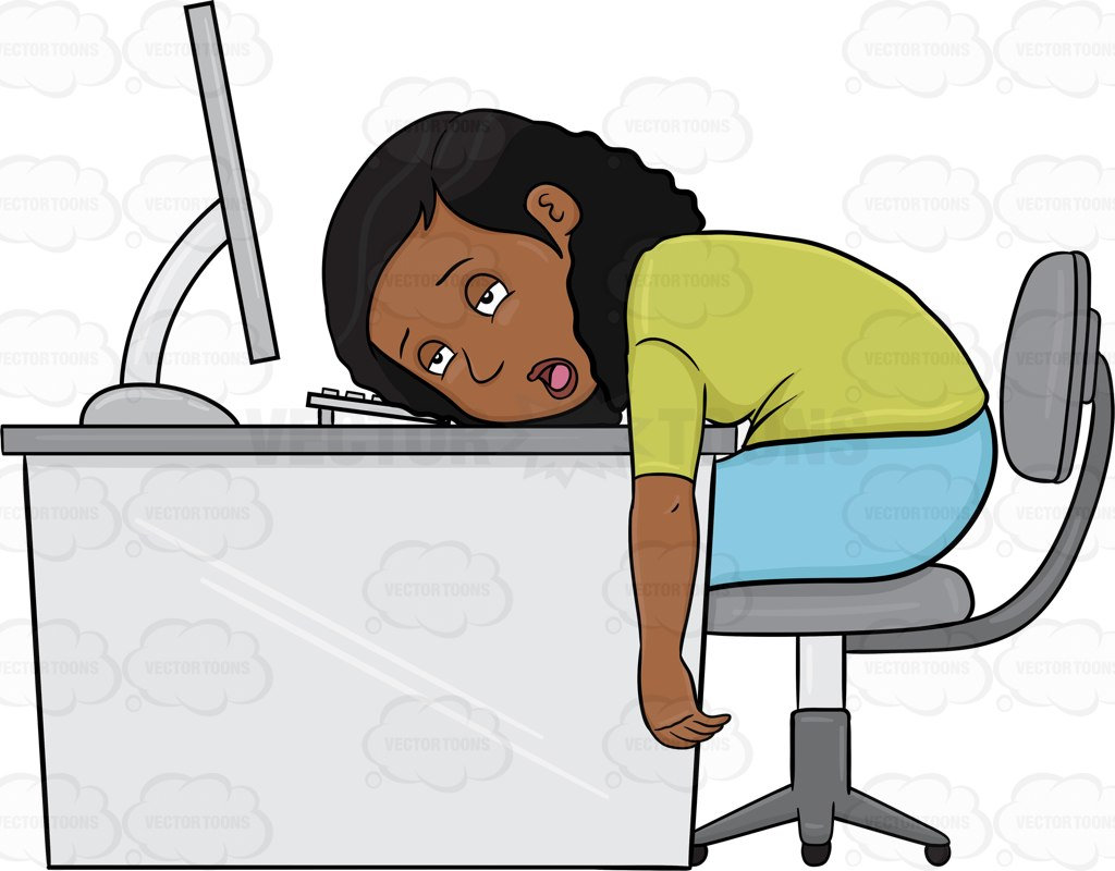 Person On Computer Clipart.