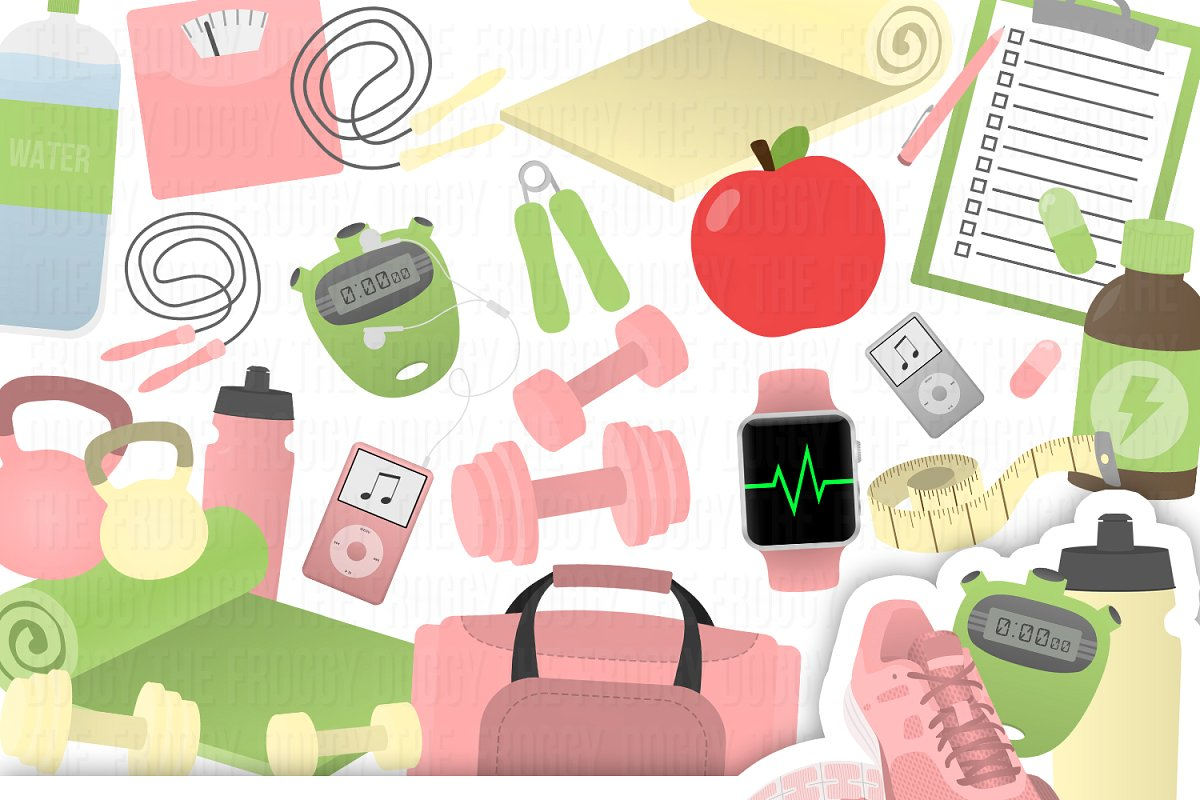 Fitness Clipart Collection.
