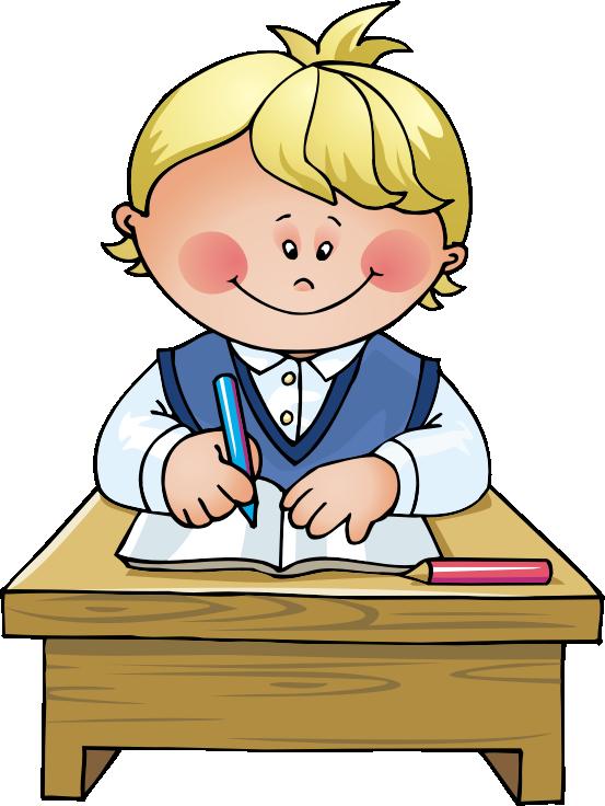 Children Working At School Clipart.