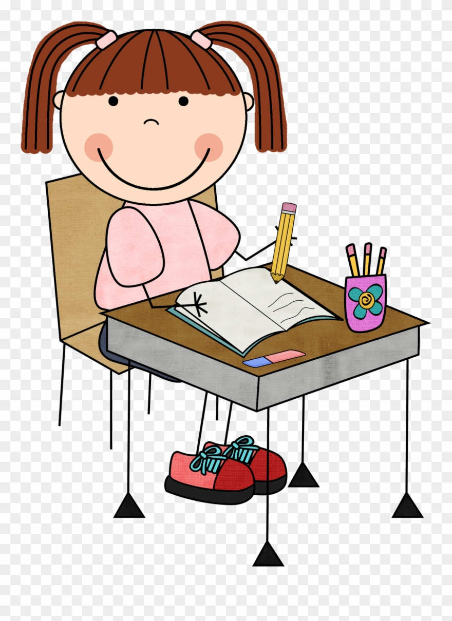 Girl Student Working Clipart Clip Art Library.