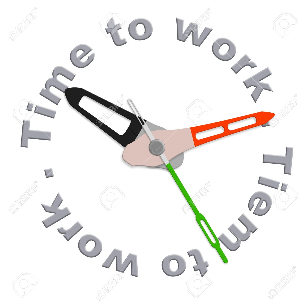 Working hours clipart.