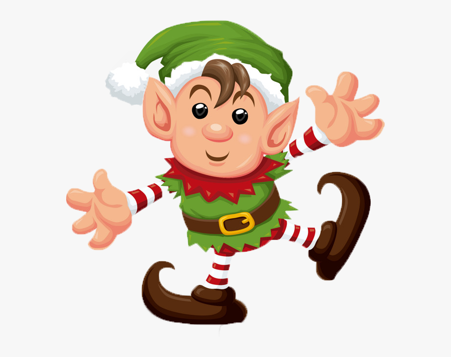 Elf Christmas Clipart Transparent Background.