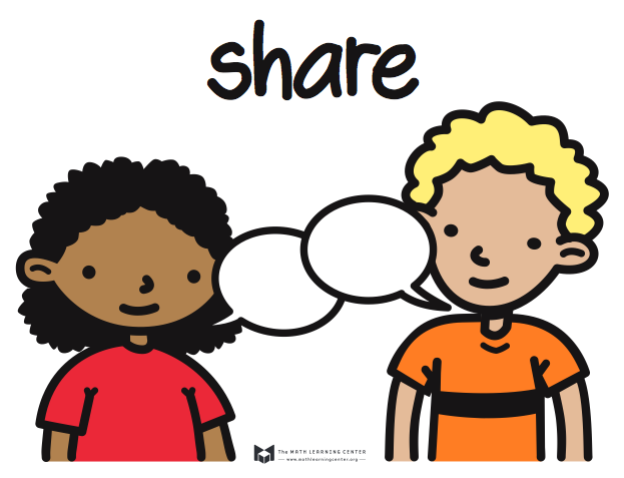 Sharing With A Partner Clipart.