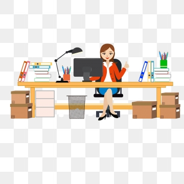 To Work In An Office PNG Images.