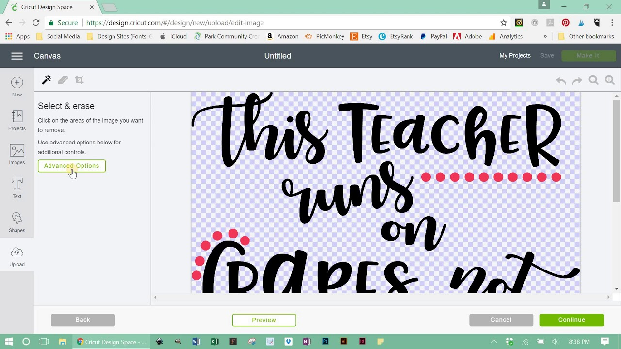 Working With SVG Files vs. PNG Files in Cricut Design Space.