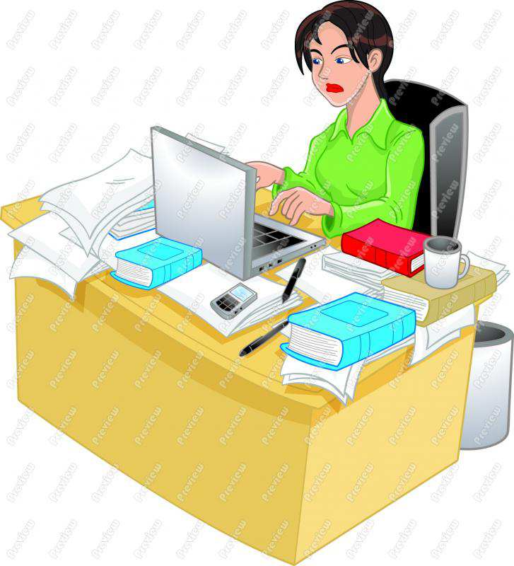Images: Woman Working Clipart.