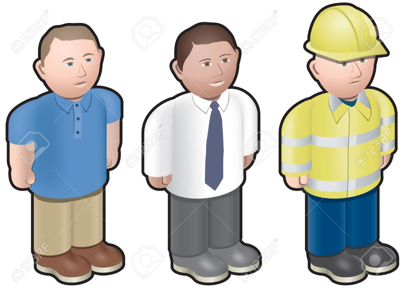 Stylised, Model Type Workmen Royalty Free Cliparts, Vectors, And.