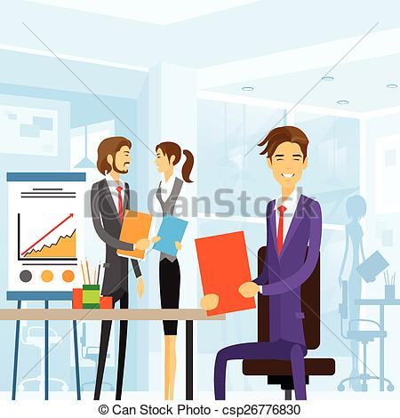 Workplace clipart vector.