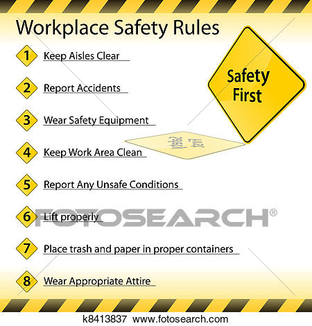 Workplace Safety Rules Clip Art.