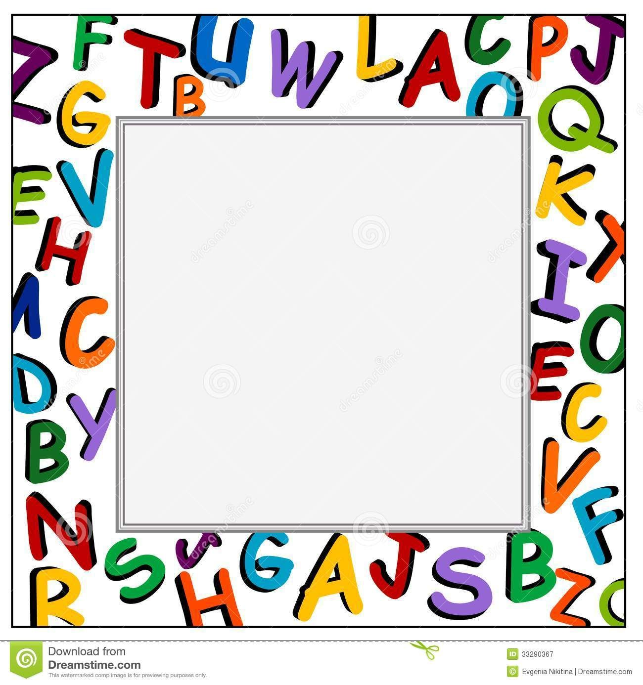 Free PPT and clipart frames for worksheets.