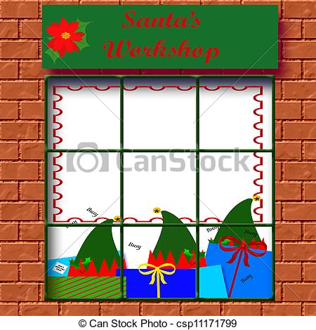 Santa's Workshop Clip Art.