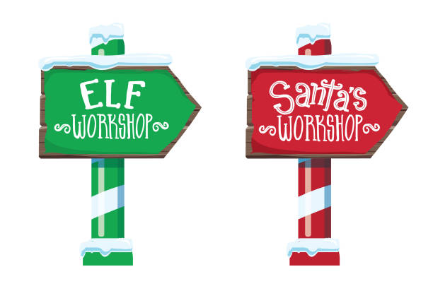 Best Santa Workshop Illustrations, Royalty.