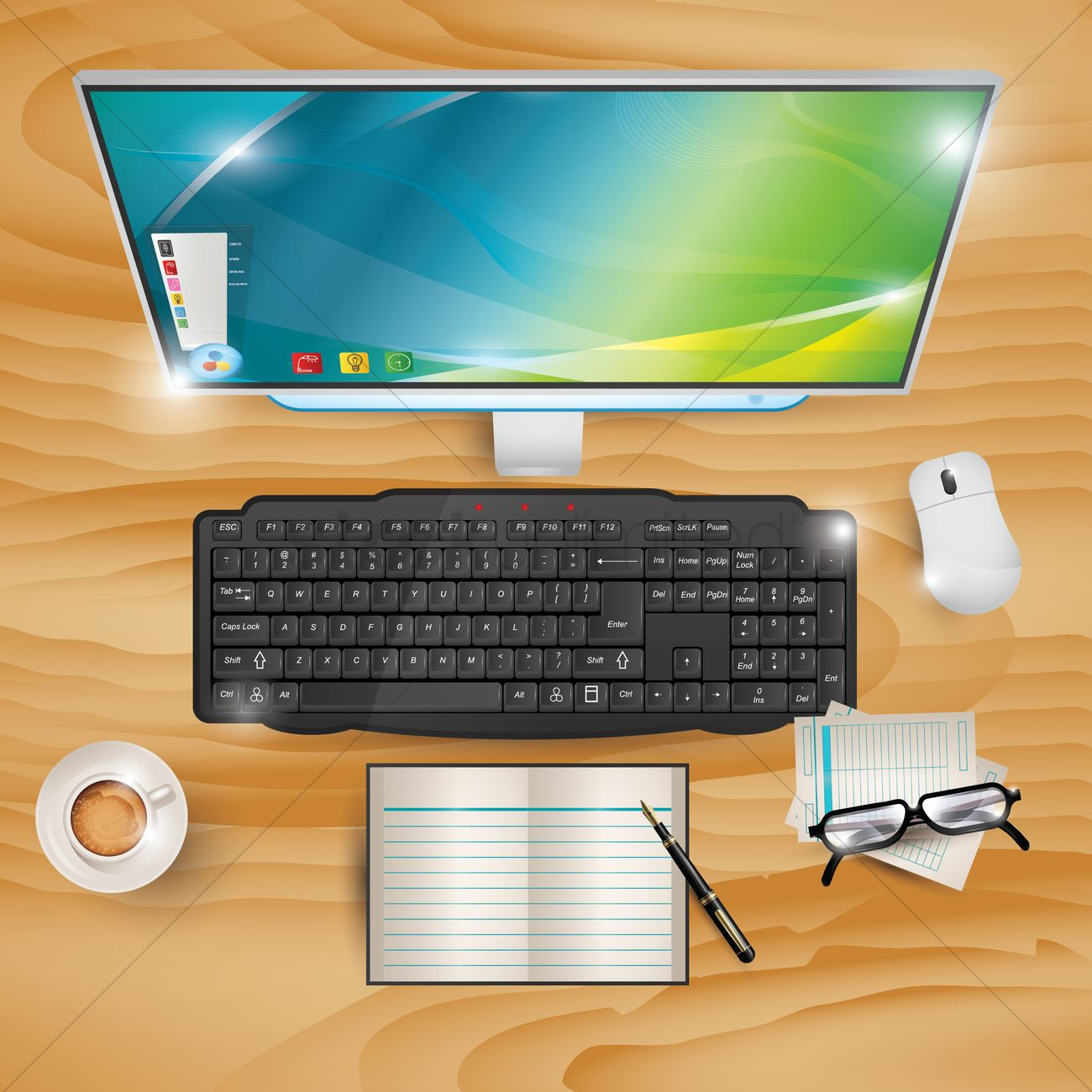 Workspace Vector Image.