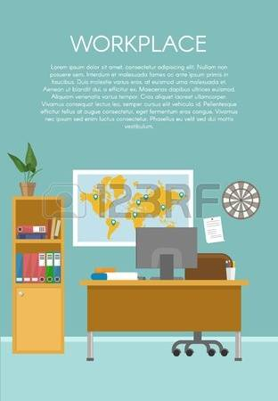 742 Empty Workspace Stock Vector Illustration And Royalty Free.