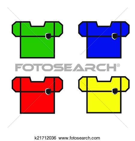 Clip Art of Beautiful Workwear. Vector Illusatration. k21712036.
