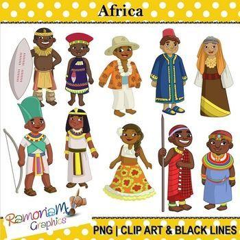 Children of the World Clip art Africa.