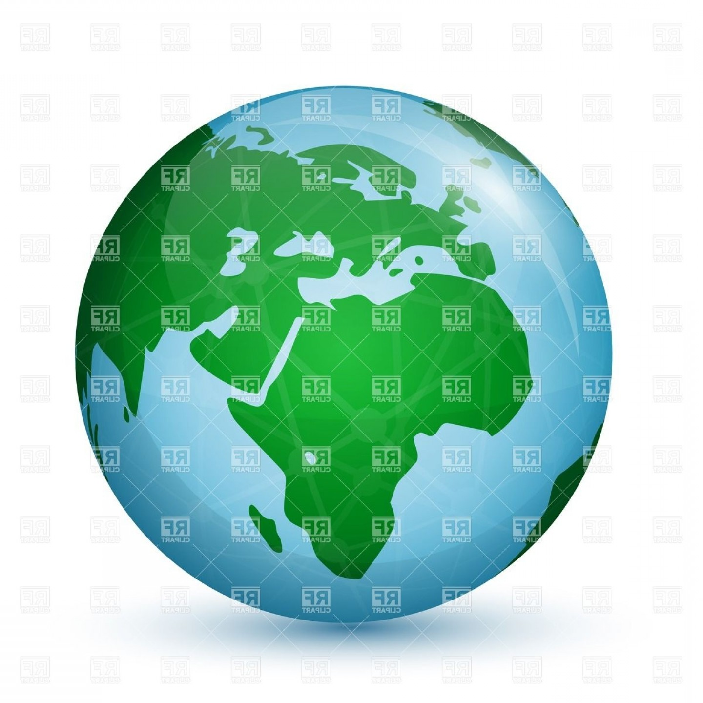 World Globe With Map Of Africa And Europe Vector Clipart.