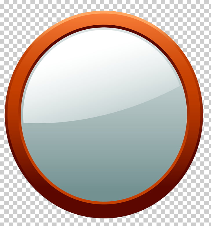 Circle Magnifying glass, Round mirrors PNG clipart.