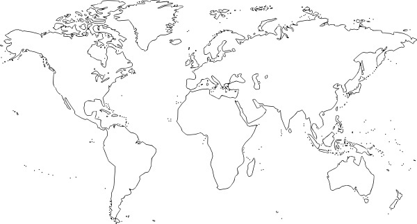 World map clip art free outline free vector download.