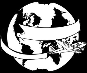 23937 clipart earth globe black white.