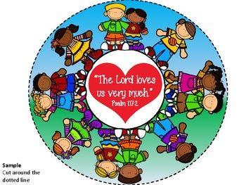 Jesus loves the children of the world craft.