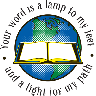 Image: Glowing Bible before the World.