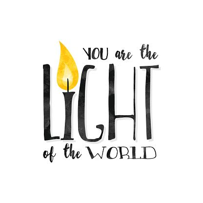 You Are The Light of The World! premium clipart.