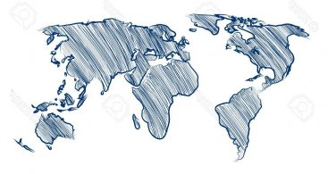 Hand Drawn World Map Vector Archives.