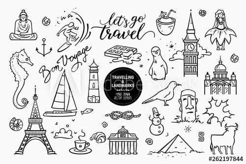 European sights, landmarks all around the world, travel.
