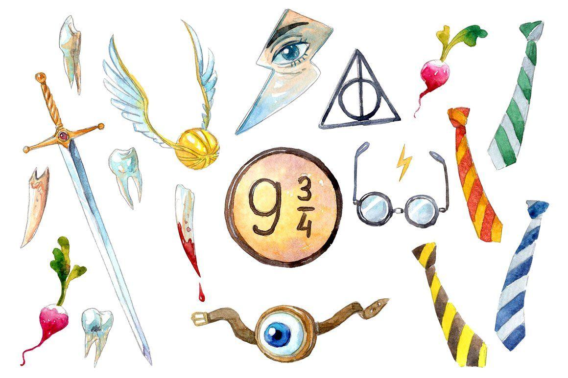 Wizarding World #Hand#drawn#elements#friend in 2019.