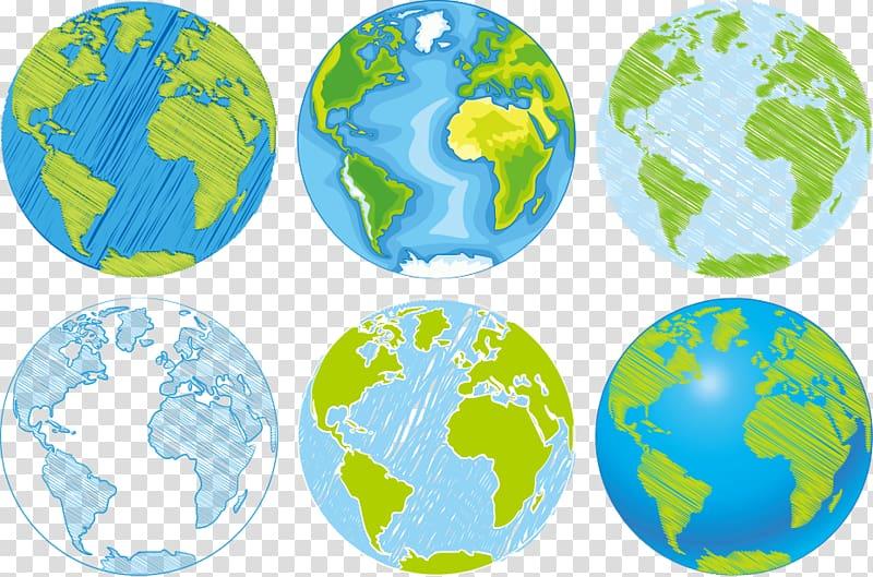 Planet earth art, Globe World Drawing Illustration, hand.