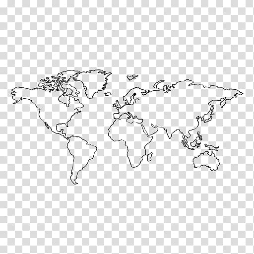 Globe World map Europe, hand drawn transparent background.