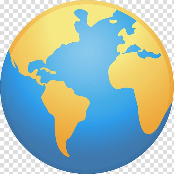 Globe World map , Earth icon transparent background PNG.
