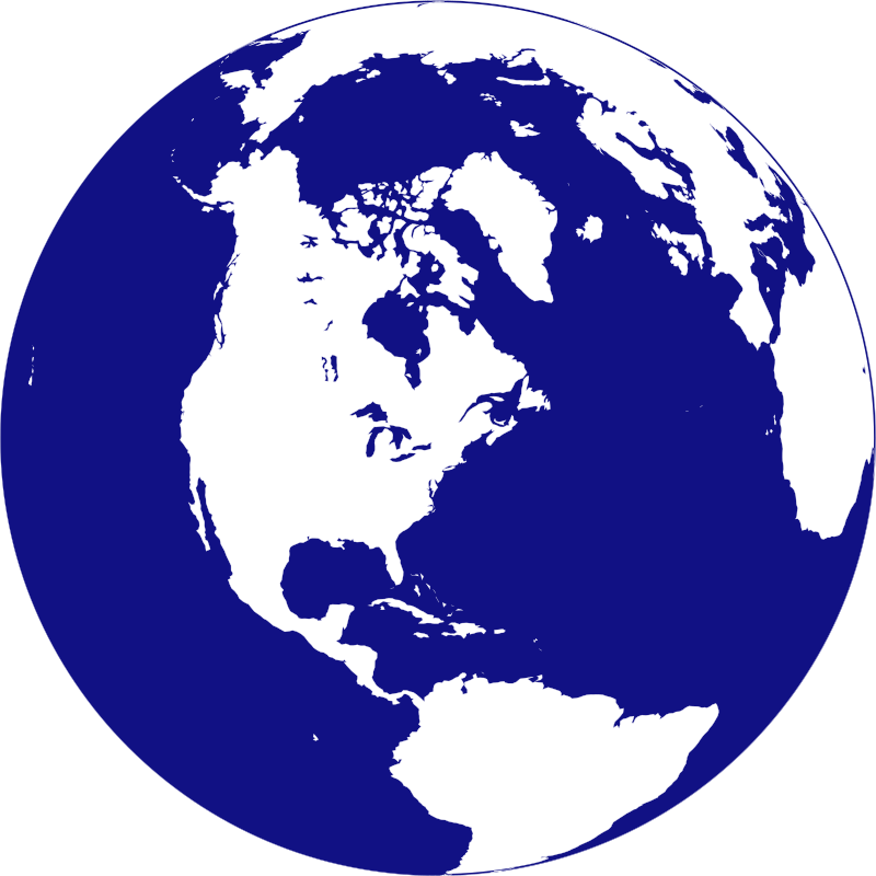 World Globe Logo Clipart.