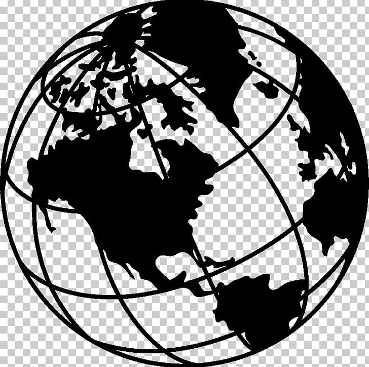 Globe Earth Black And White Drawing PNG, Clipart, Art.