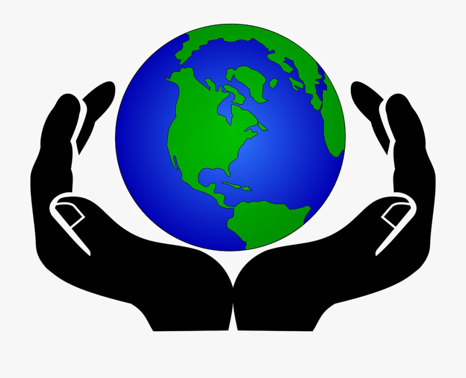 Earth In Hands Transparent Background.