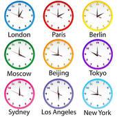 World clock desktop clipart.
